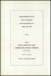 Page 50, 1955 Edition, Klickitat High School - Lumberjack Yearbook (Klickitat, WA) online yearbook collection