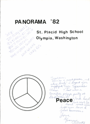 Page 5, 1982 Edition, St Placid High School - Panorama Yearbook (Olympia, WA) online yearbook collection