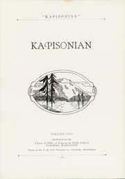Page 9, 1926 Edition, Kapowsin High School - Kapisonian Yearbook (Kapowsin, WA) online yearbook collection