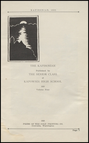 Page 7, 1928 Edition, Kapowsin High School - Kapisonian Yearbook (Kapowsin, WA) online yearbook collection