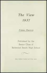 Page 7, 1937 Edition, Richmond Beach High School - View Yearbook (Shoreline, WA) online yearbook collection