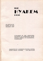 Page 5, 1936 Edition, Central Washington University - Hyakem / Kooltuo Yearbook (Ellensburg, WA) online yearbook collection