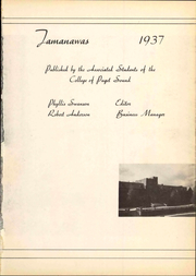 Page 7, 1937 Edition, University of Puget Sound - Tamanawas Yearbook (Tacoma, WA) online yearbook collection