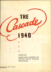 Page 9, 1940 Edition, Seattle Pacific University - Tawashi Yearbook (Seattle, WA) online yearbook collection