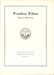 Page 11, 1957 Edition, Woodrow Wilson High School - Yearbook (Washington, DC) online yearbook collection