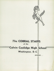 Page 5, 1955 Edition, Coolidge High School - Corral Yearbook (Washington, DC) online yearbook collection