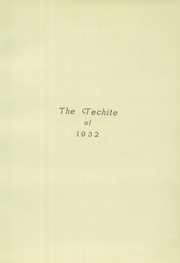 Page 7, 1932 Edition, McKinley Technical High School - Techite Yearbook (Washington, DC) online yearbook collection