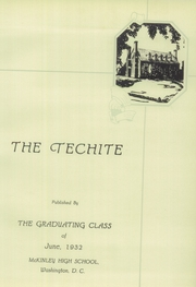 Page 9, 1932 Edition, McKinley Technical High School - Techite Yearbook (Washington, DC) online yearbook collection