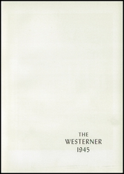 Page 7, 1945 Edition, Western High School - Westerner Yearbook (Washington, DC) online yearbook collection