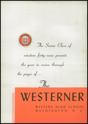Page 6, 1947 Edition, Western High School - Westerner Yearbook (Washington, DC) online yearbook collection