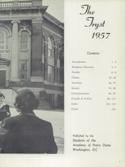 Page 7, 1957 Edition, Notre Dame Academy - Tryst Yearbook (Washington, DC) online yearbook collection