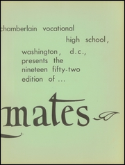 Page 7, 1952 Edition, Chamberlain Vocational High School - Volt Yearbook (Washington, DC) online yearbook collection
