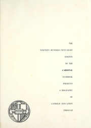 Page 5, 1958 Edition, Catholic University of America - Cardinal Yearbook (Washington, DC) online yearbook collection