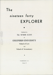 Page 11, 1940 Edition, Columbus School of Law - Explorer Yearbook (Washington, DC) online yearbook collection