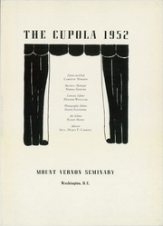 Page 7, 1952 Edition, Mount Vernon Seminary - Cupola Yearbook (Washington, DC) online yearbook collection