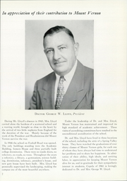 Page 11, 1961 Edition, Mount Vernon Seminary - Cupola Yearbook (Washington, DC) online yearbook collection