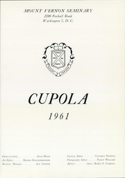 Page 5, 1961 Edition, Mount Vernon Seminary - Cupola Yearbook (Washington, DC) online yearbook collection