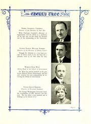 Page 17, 1930 Edition, George Washington University - Cherry Tree Yearbook (Washington, DC) online yearbook collection