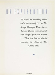 Page 9, 1939 Edition, George Washington University - Cherry Tree Yearbook (Washington, DC) online yearbook collection