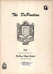 Page 3, 1951 Edition, DuPont High School - DuPontian Yearbook (Belle, WV) online yearbook collection