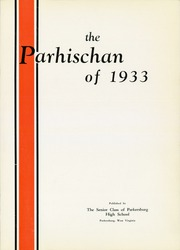 Page 7, 1933 Edition, Parkersburg High School - Parhischan Yearbook (Parkersburg, WV) online yearbook collection