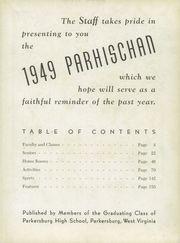 Page 7, 1949 Edition, Parkersburg High School - Parhischan Yearbook (Parkersburg, WV) online yearbook collection