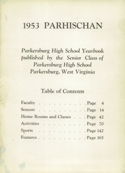 Page 5, 1953 Edition, Parkersburg High School - Parhischan Yearbook (Parkersburg, WV) online yearbook collection