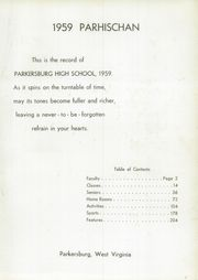 Page 9, 1959 Edition, Parkersburg High School - Parhischan Yearbook (Parkersburg, WV) online yearbook collection