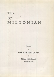 Page 5, 1957 Edition, Milton High School - Miltonian Yearbook (Milton, WV) online yearbook collection