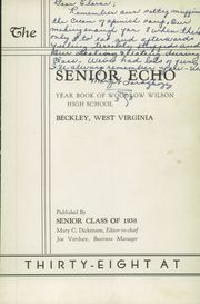 Page 7, 1938 Edition, Woodrow Wilson High School - Echo Yearbook (Beckley, WV) online yearbook collection