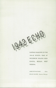 Page 5, 1942 Edition, Woodrow Wilson High School - Echo Yearbook (Beckley, WV) online yearbook collection