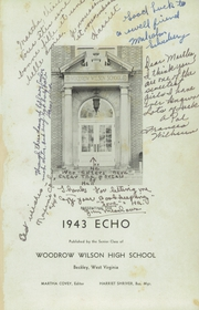 Page 5, 1943 Edition, Woodrow Wilson High School - Echo Yearbook (Beckley, WV) online yearbook collection