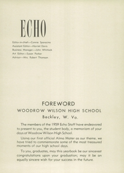 Page 5, 1959 Edition, Woodrow Wilson High School - Echo Yearbook (Beckley, WV) online yearbook collection