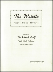 Page 5, 1953 Edition, Weir High School - Weirite Yearbook (Weirton, WV) online yearbook collection