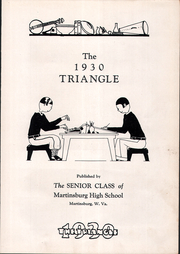 Page 7, 1930 Edition, Martinsburg High School - Triangle Yearbook (Martinsburg, WV) online yearbook collection