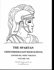 Page 3, 1976 Edition, Greenbrier East High School - Spartan Yearbook (Lewisburg, WV) online yearbook collection