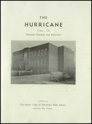 Page 3, 1945 Edition, Hurricane High School - Yearbook (Hurricane, WV) online yearbook collection
