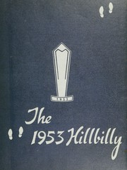 Man High School - Hillbilly Yearbook (Man, WV) online yearbook collection, 1953 Edition, Page 1