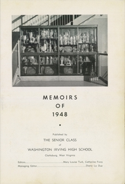 Page 7, 1948 Edition, Washington Irving High School - Reminiscences Yearbook (Clarksburg, WV) online yearbook collection