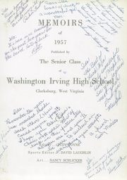 Page 5, 1957 Edition, Washington Irving High School - Reminiscences Yearbook (Clarksburg, WV) online yearbook collection
