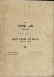 Page 3, 1928 Edition, Wayne High School - Nuntius Yearbook (Wayne, WV) online yearbook collection