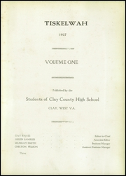 Page 7, 1927 Edition, Clay High School - Tiskelwah Yearbook (Clay, WV) online yearbook collection