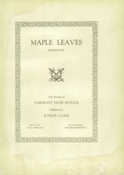 Page 11, 1928 Edition, West Fairmont High School - Maple Leaves Yearbook (Fairmont, WV) online yearbook collection