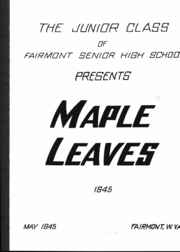 Page 2, 1945 Edition, Fairmont High School - Maple Leaves Yearbook (Fairmont, WV) online yearbook collection