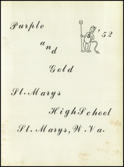 Page 5, 1952 Edition, St Marys High School - Purple and Gold Yearbook (St Marys, WV) online yearbook collection