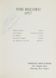 Page 7, 1957 Edition, Wheeling High School - Record Yearbook (Wheeling, WV) online yearbook collection