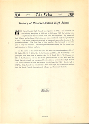 Page 13, 1930 Edition, Roosevelt Wilson High School - Echo Yearbook (Clarksburg, WV) online yearbook collection