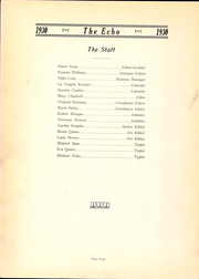 Page 8, 1930 Edition, Roosevelt Wilson High School - Echo Yearbook (Clarksburg, WV) online yearbook collection