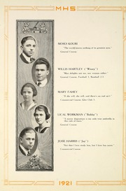Page 20, 1921 Edition, Moundsville High School - Orospolitan Yearbook (Moundsville, WV) online yearbook collection
