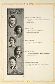 Page 22, 1921 Edition, Moundsville High School - Orospolitan Yearbook (Moundsville, WV) online yearbook collection